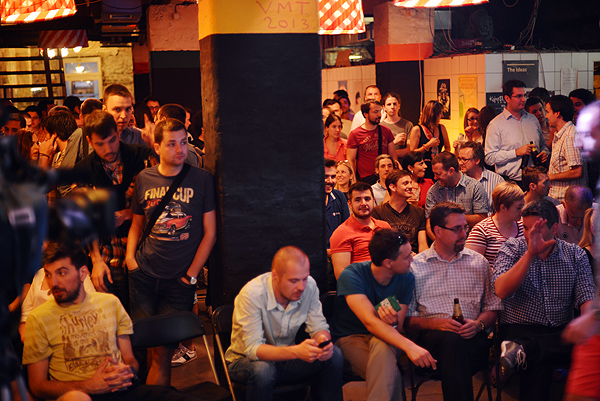 More than 200 people gathered in Belgrade to see John Biggs (Photo: Marina Filipovic Marinshe)