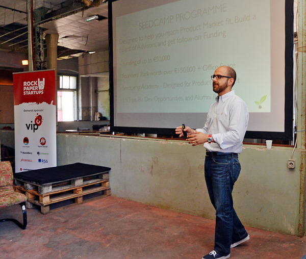 Carlos Eduardo Espinal, Seedcamp cofounder, at Mini Seedcamp Rijeka at RockPaperStartups