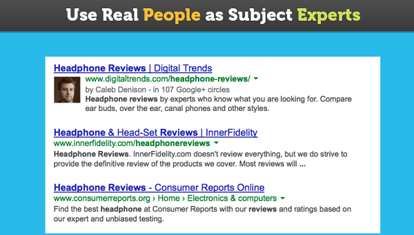 real people as subject experts