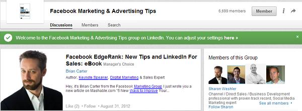 Create a LinkedIn group!