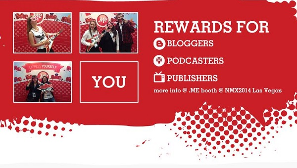 .ME rewards you if you share your experience with the .ME domains
