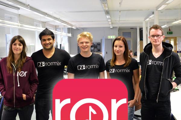 Rormix team - four cofounders, Amman Ahmed, Chris Farrell, Mark Wheeler, and the first employee, Agi Szabadi from Hungary.