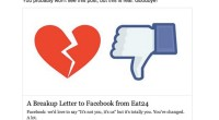 Protest for Facebook's Reduced Organic Reach: Food App Eat24 Shuts Down Its Facebook Page!