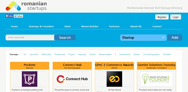 Romanian startups is an online startup directory.