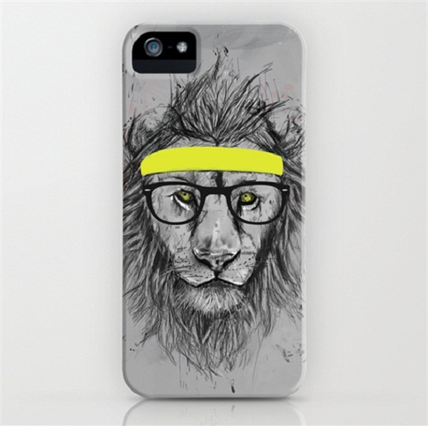 Squee Hipster Lion Case
