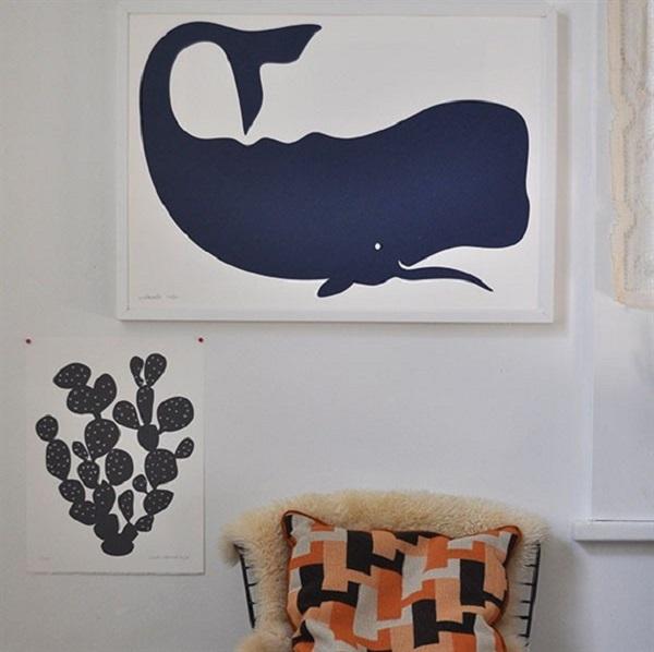 Squee Whale Print