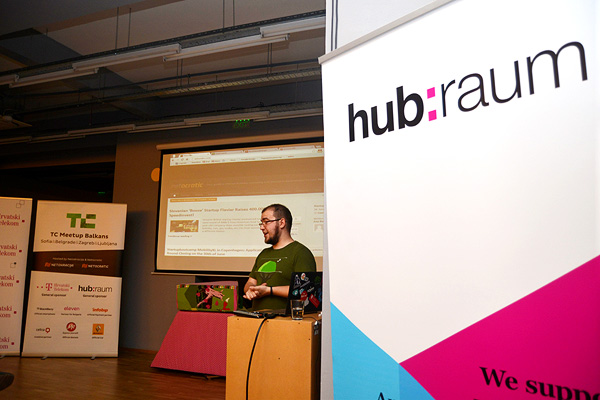Ivan Brezak Brkan talks more about organizing TC Balkans Meetups (Photo: Marina Filipovic Marinshe)