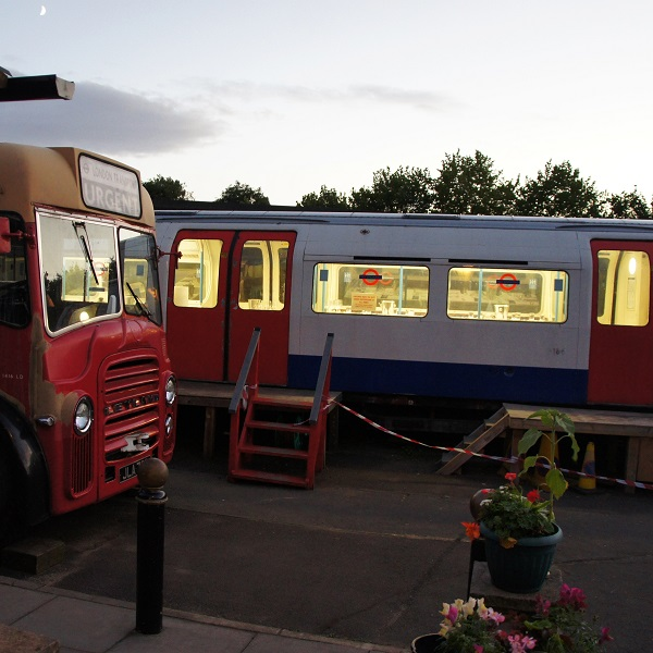 The event took place in a former Victoria line tube carriage