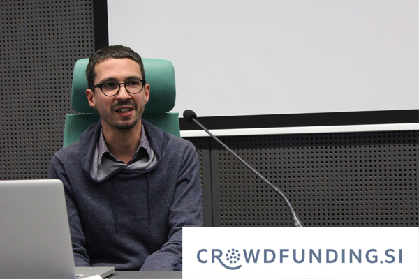 Luka Piškorič from Crowdfunding.si (photo: Elvisa Basailović).