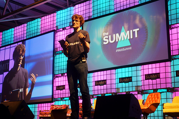 Paddy Cosgrave opening the Web Summit.