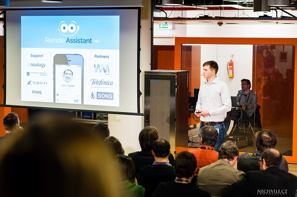 On Wayra CEE Demo Day Stanik announced partnering up with Czech Blind United