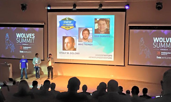 CCC Startups partners: Vitaly Golomb, Mike Reiner and Max Gurvits (Photo: Startup AddVenture Facebook)
